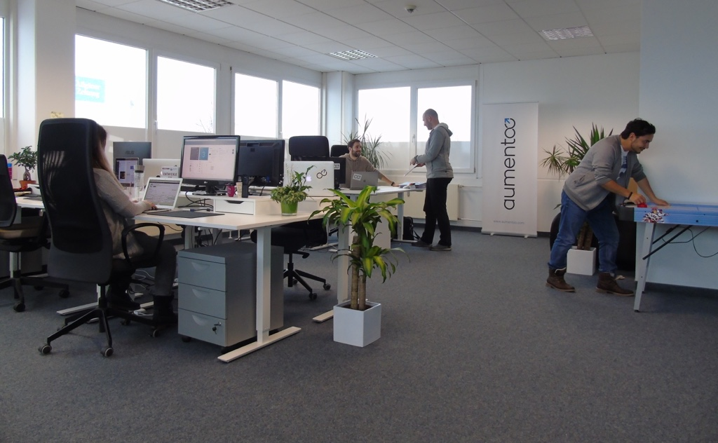 the aumentoo team within their first office in Kempten