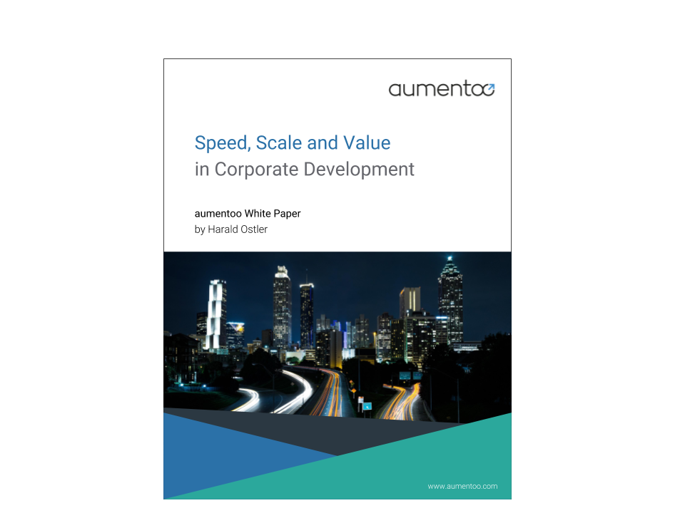 Speed, Scale and Value in Corporate Development-White Paper Cover