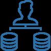 User verbindet sich mit Datenbank Icon